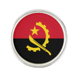 Patriotic Angolan Flag Lapel Pin