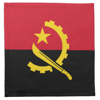 Patriotic Angolan Flag Napkin
