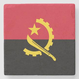 Patriotic Angolan Flag Stone Coaster
