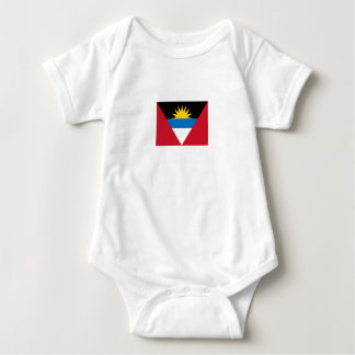 Patriotic Antigua and Barbuda Flag Baby Bodysuit