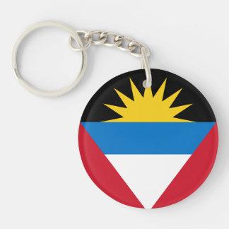 Patriotic Antigua and Barbuda Flag Keychain