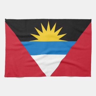 Patriotic Antigua and Barbuda Flag Kitchen Towel