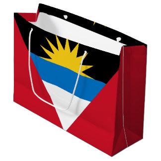 Patriotic Antigua and Barbuda Flag Large Gift Bag
