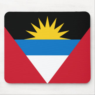 Patriotic Antigua and Barbuda Flag Mouse Pad