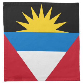 Patriotic Antigua and Barbuda Flag Napkin