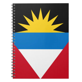 Patriotic Antigua and Barbuda Flag Notebooks