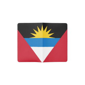 Patriotic Antigua and Barbuda Flag Pocket Moleskine Notebook