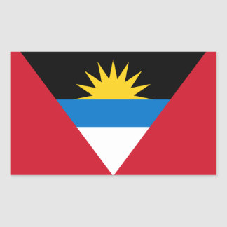 Patriotic Antigua and Barbuda Flag Sticker