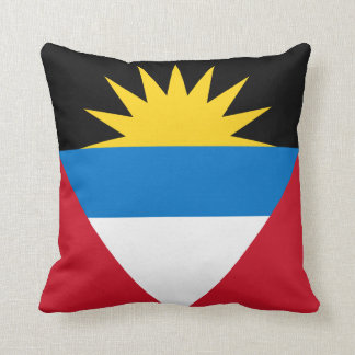 Patriotic Antigua and Barbuda Flag Throw Pillow