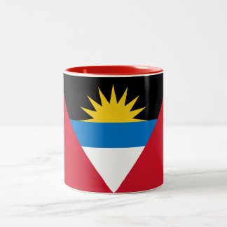 Patriotic Antigua and Barbuda Flag Two-Tone Coffee Mug