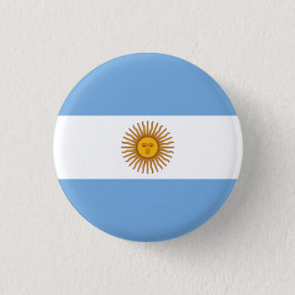 Patriotic Argentinian Flag 1 Inch Round Button