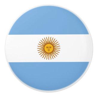 Patriotic Argentinian Flag Ceramic Knob