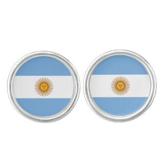 Patriotic Argentinian Flag Cufflinks