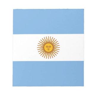 Patriotic Argentinian Flag Notepad