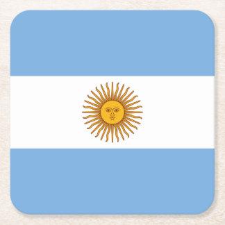 Patriotic Argentinian Flag Square Paper Coaster
