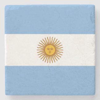 Patriotic Argentinian Flag Stone Coaster