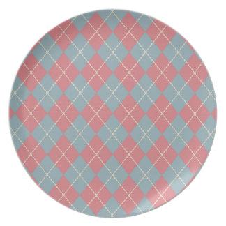 Patriotic Argyle Plate