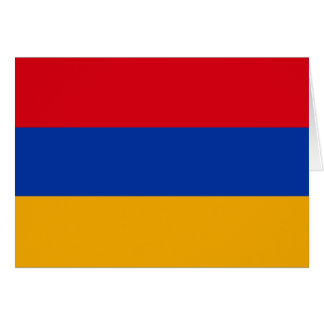 Patriotic Armenia Flag Card