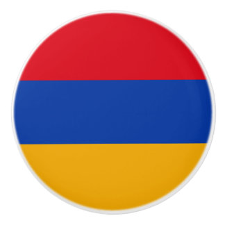 Patriotic Armenia Flag Ceramic Knob