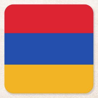 Patriotic Armenia Flag Square Paper Coaster
