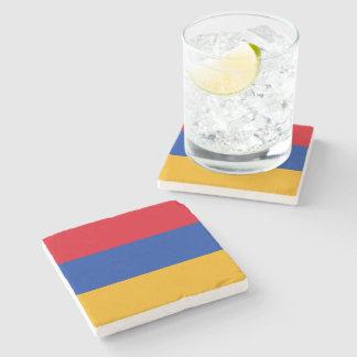 Patriotic Armenia Flag Stone Coaster