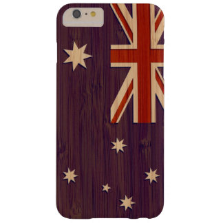 Patriotic Australia Australian Flag in Bamboo Look Barely There iPhone 6 Plus Case