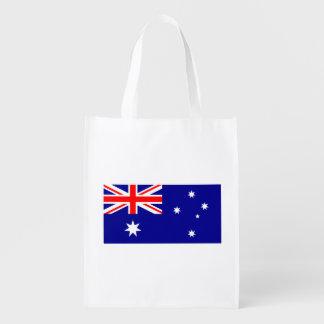 Patriotic Australian Flag Reusable Grocery Bag