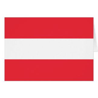 Patriotic Austrian Flag Card