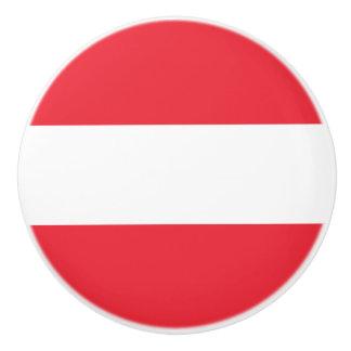 Patriotic Austrian Flag Ceramic Knob