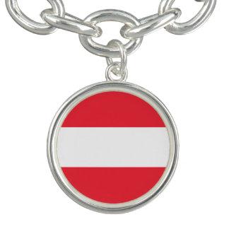 Patriotic Austrian Flag Charm Bracelets