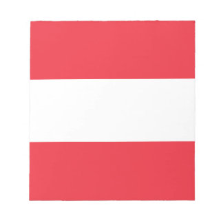 Patriotic Austrian Flag Notepad
