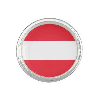 Patriotic Austrian Flag Ring