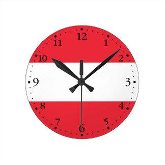 Patriotic Austrian Flag Round Clock