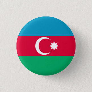 Patriotic Azerbaijan Flag 1 Inch Round Button