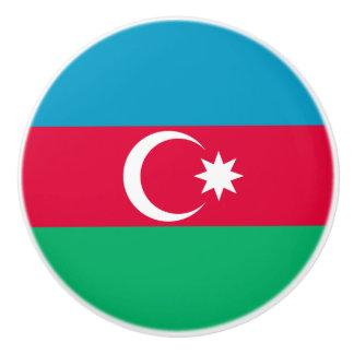 Patriotic Azerbaijan Flag Ceramic Knob