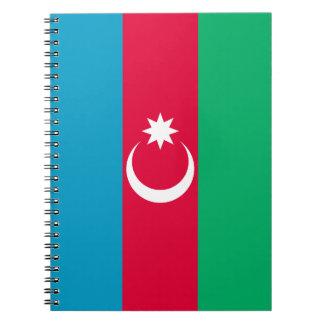 Patriotic Azerbaijan Flag Notebook