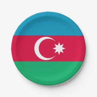 Patriotic Azerbaijan Flag Paper Plate