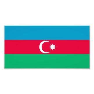 Patriotic Azerbaijan Flag Photo Print