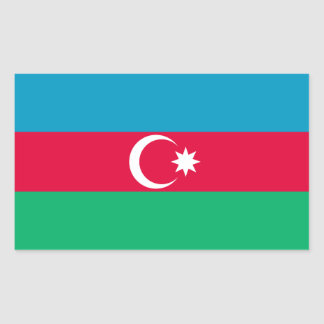Patriotic Azerbaijan Flag Sticker