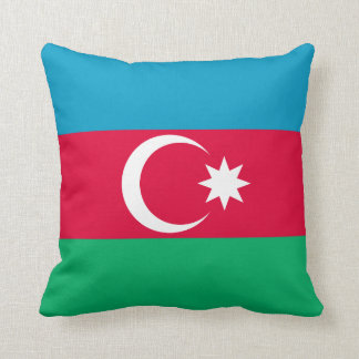 Patriotic Azerbaijan Flag Throw Pillow