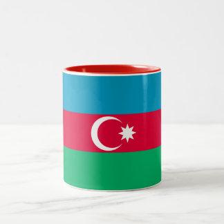 Patriotic Azerbaijan Flag Two-Tone Coffee Mug