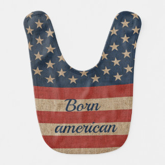 Patriotic Baby Bib with print USA flag