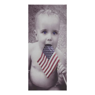 Patriotic Baby Personalized Rack Card