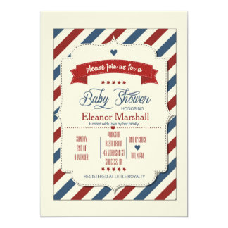 Patriotic Baby Shower Invitation