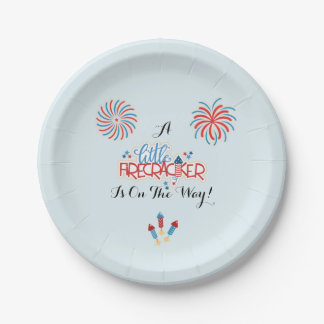 Patriotic Baby Shower Plates