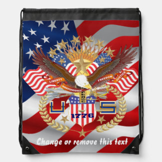 Patriotic Backpack? Runner? View About Design Drawstring Bags