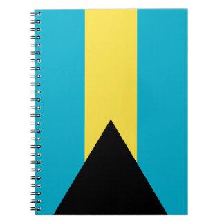Patriotic Bahamian Flag Notebook