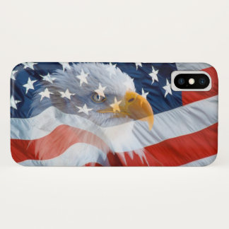 Patriotic Bald Eagle American Flag Case-Mate iPhone Case
