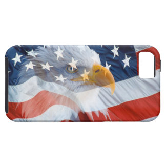 Patriotic Bald Eagle American Flag iPhone 5 Case
