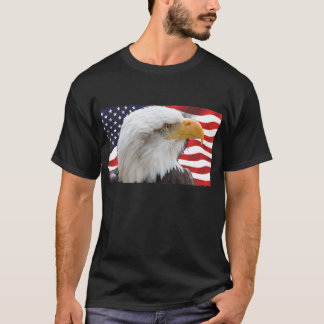Patriotic Bald Eagle and Flag T-Shirt